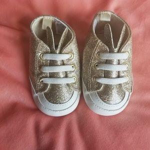 NWOT Baby shoes gold shimmery bunny ears Cheroke